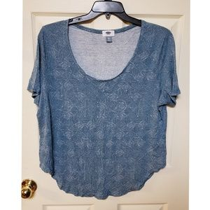 XXL Old Navy Short Sleeved Patterned Top